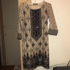 Limelight cream beige and black designer kurta